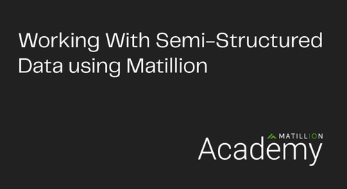 Study Up on Semi-Structured Data in Matillion Academy