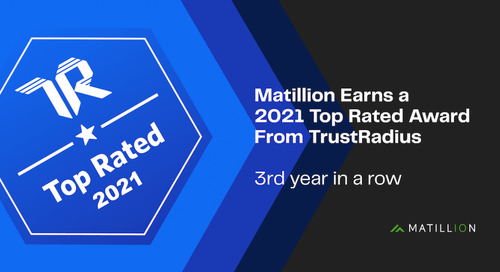 Matillion Earns a TrustRadius Top Rated Award for the Third Year in a Row