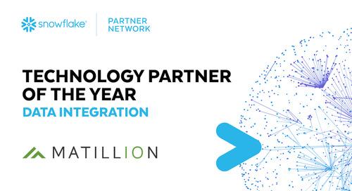 Matillion Named Snowflake Data Integration Partner of the Year for 2021