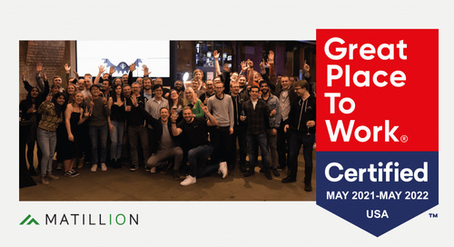 Matillion Earns Great Place to Work Certification™