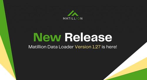 Matillion Data Loader v1.27: More Support for Schema Drift