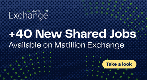Over 40 New Shared Jobs Available on Matillion Exchange