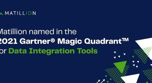Matillion Named in the 2021 Gartner® Magic Quadrant™ for Data Integration Tools