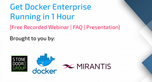 Getting Docker Enterprise Edition Running in 1 Hour