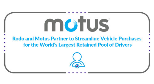 Rodo and Motus Partner to Streamline Vehicle Purchases for the World's Largest Retained Pool of Drivers