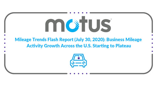 Mileage Trends Flash Report (July 30, 2020): Business Mileage Activity Growth Across the U.S. Starting to Plateau