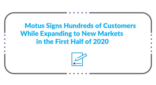 Motus Signs Hundreds of Customers While Expanding to New Markets in the First Half of 2020