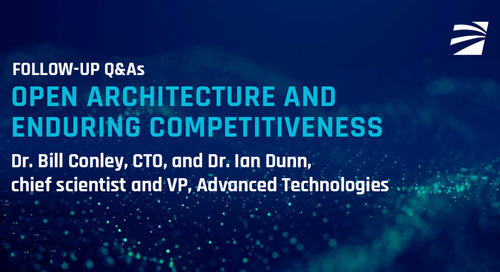 Blog:   Open Architectures and Enduring Competitiveness Q&A
