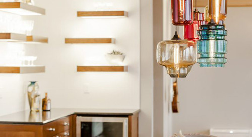 Mercer Island Home for Entertaining Features Handmade Pendant Lighting