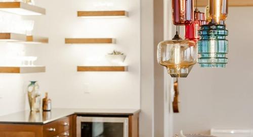 Mercer Island Home for Entertaining Features Handmade Pendant Lighting