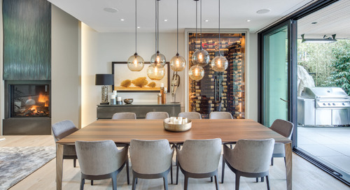 West Vancouver Residence Features Hand-Blown Solitaire Pendant Lighting Cluster