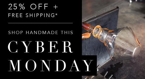 Support Local Business this Cyber Monday with 25% Off Pendant Lights