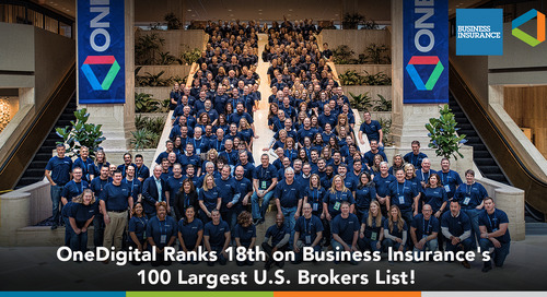 OneDigital Health and Benefits Ranks 18th on Business Insurance Top 100 Brokers List