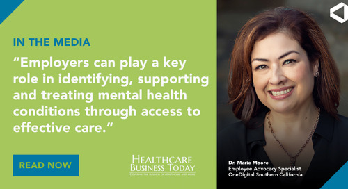 Dr. Marie Moore Talks to Healthcare Business Today About Ways to Support Mental Health in the Workplace