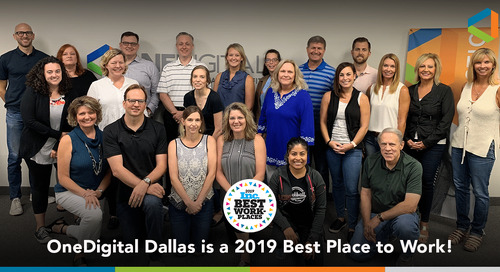 OneDigital Dallas Named a 2019 Best Place to Work