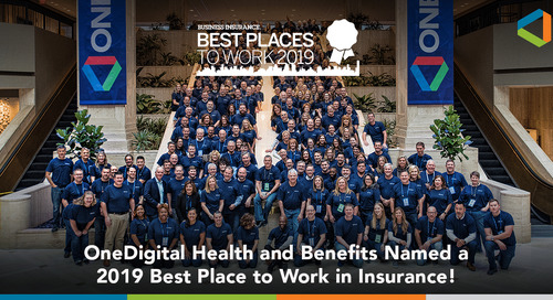 OneDigital Health and Benefits Named in Business Insurance's Annual Best Places to Work List