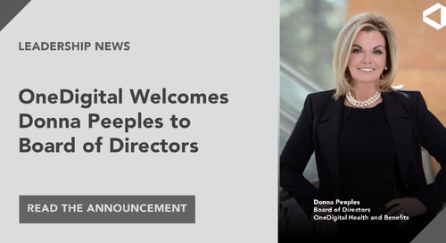 OneDigital Health and Benefits Announces New Board Member