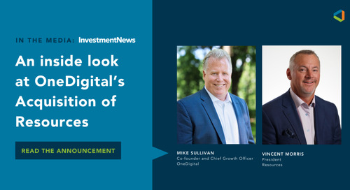 OneDigital and Resource Leaders Talk to InvestmentNews About Exciting Acquisition