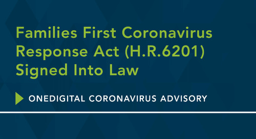 Families First Coronavirus Response Act (H.R.6201) Signed Into Law