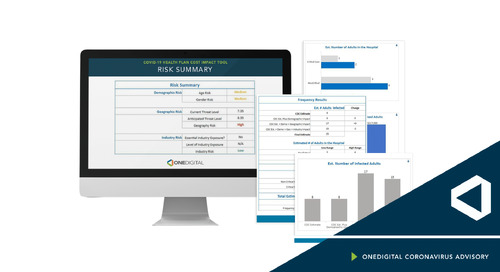 OneDigital COVID-19 Health Cost Impact Tool Spotlighted by Human Resource Executive