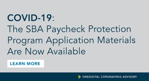 Application Materials for SBA's Paycheck Protection Program Are Now Available