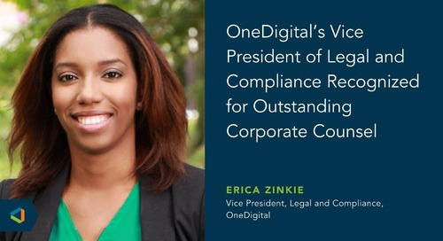 OneDigital's Vice President Of Legal and Compliance Erica Cordova Zinkie Honored By Atlanta Business Chronicle