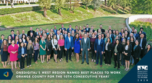 OneDigital's West Region Named Best Places To Work Orange County For The 10th Consecutive Year