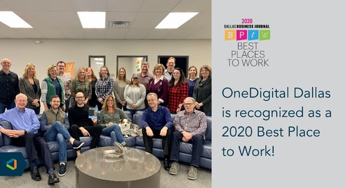 OneDigital Dallas Awarded Best Places to Work for Second Consecutive Year