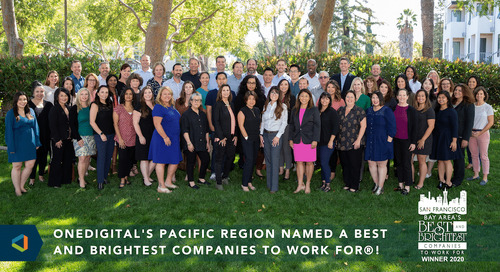 OneDigital's Pacific Region Named San Francisco Bay Area's Best and Brightest Companies to Work For®