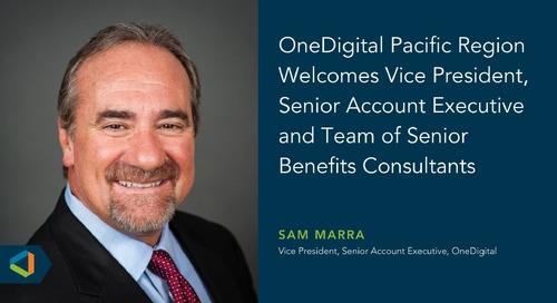 OneDigital Pacific Region Announces New Hire Sam Marra
