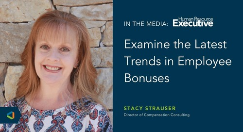 Stacy Strauser on Employee Bonus Programs in Human Resource Executive