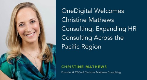 OneDigital Acquires Christine Mathews Consulting, Marking Its Largest HR Acquisition