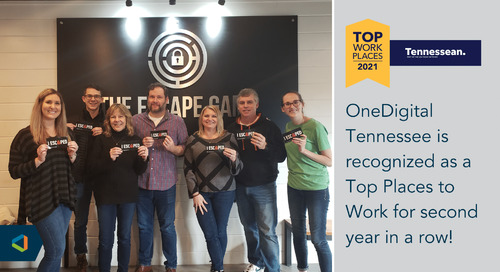 OneDigital Tennessee Recognized with Top Workplace Award