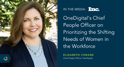 Elizabeth Chrane Talks With Inc. About Leadership Strategies to Empower Women in the Workplace