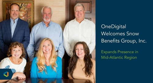 Snow Benefits Group, Inc. Joins OneDigital