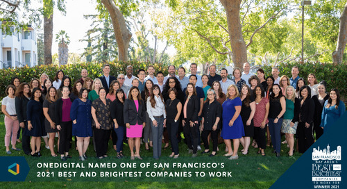 OneDigital Northern California Named One of San Francisco Bay Area's 2021 Best and Brightest Companies To Work For®
