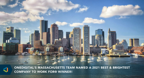 OneDigital's Massachusetts Team Recognized as a Best and Brightest Company to Work For® in Boston