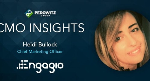 CMO Insights: Heidi Bullock, CMO for Engagio