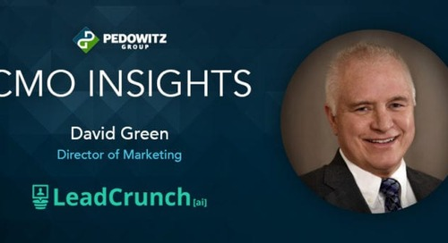 CMO Insights: David Green, Director of Marketing, LeadCrunch
