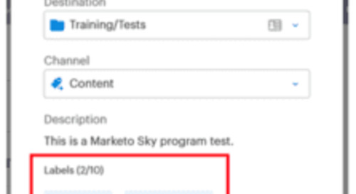7 New Must-See Marketing Activities Features: The Marketo Sky Blog Series