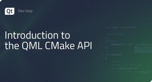 Introduction to the QML CMake API