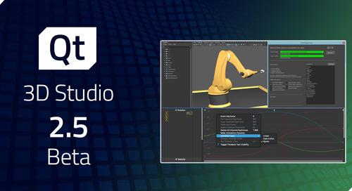 Qt 3D Studio 2.5 Beta released