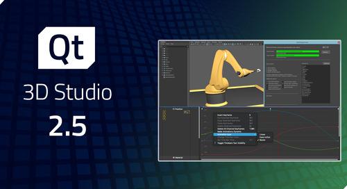 Qt 3D Studio 2.5 released
