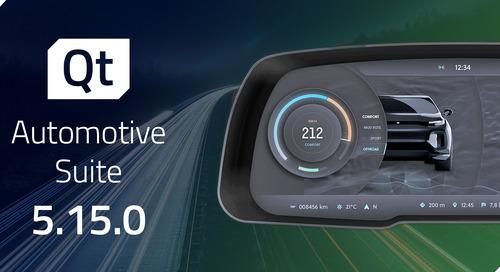 Qt Automotive Suite 5.15.0 released