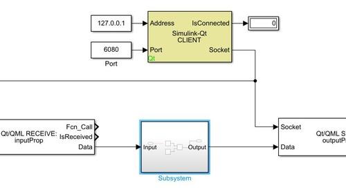 HMI Development with Model-Based Design using Qt Design Studio and Simulink