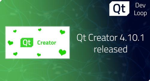 Qt Creator 4.10.1 released