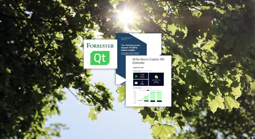 Forrester Total Economic Impact™ of Embedded Software Development with Qt