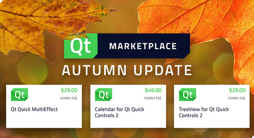 What is new in the Qt Marketplace - Autumn 2020 Update