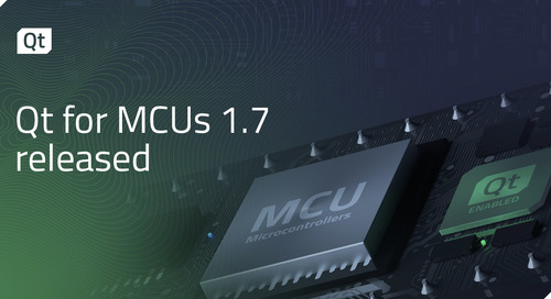 Qt for MCUs 1.7 released