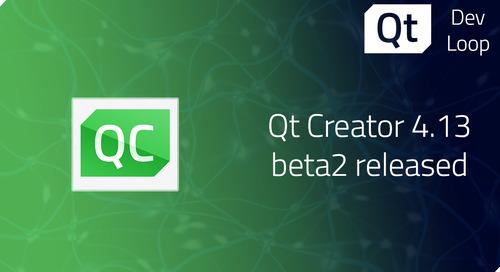 Qt Creator 4.13 Beta2 released